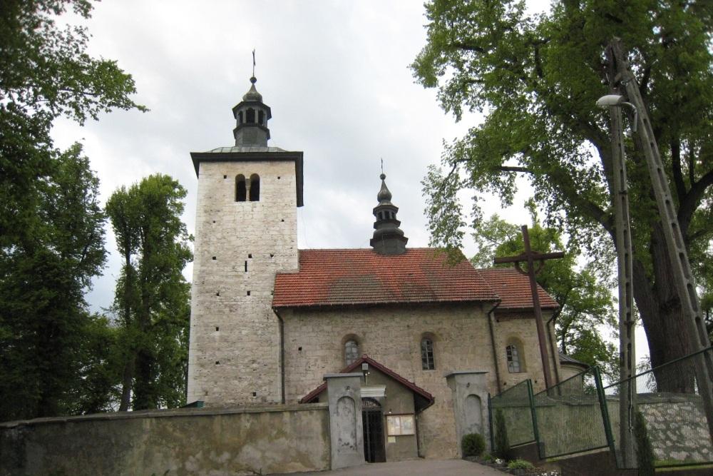 Murowany romański kościół w Wysocicach z przełomu XII i XIII wieku